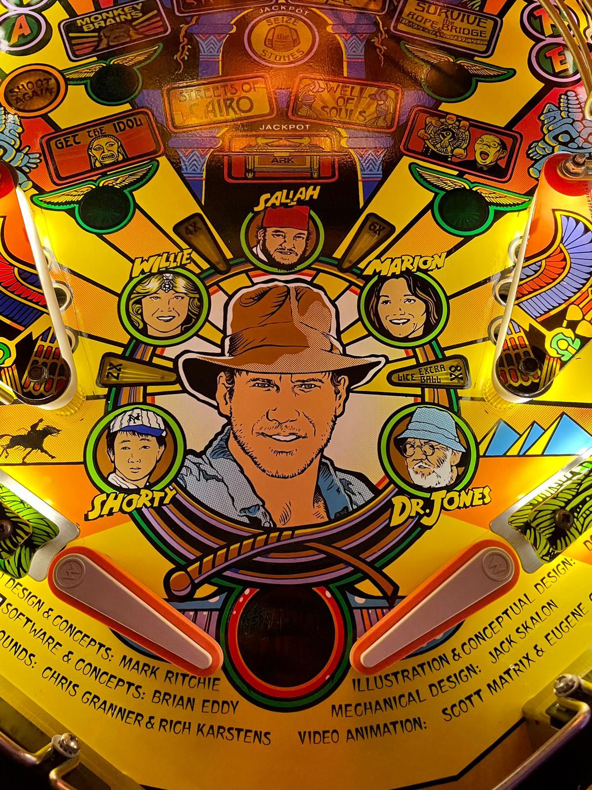 Zoom playfield Indiana Jones 2