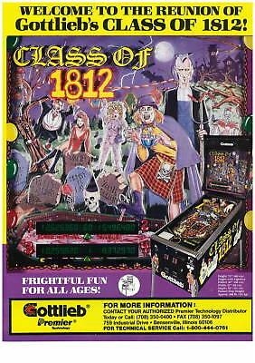 Class of 1812 pinball - Gottlieb