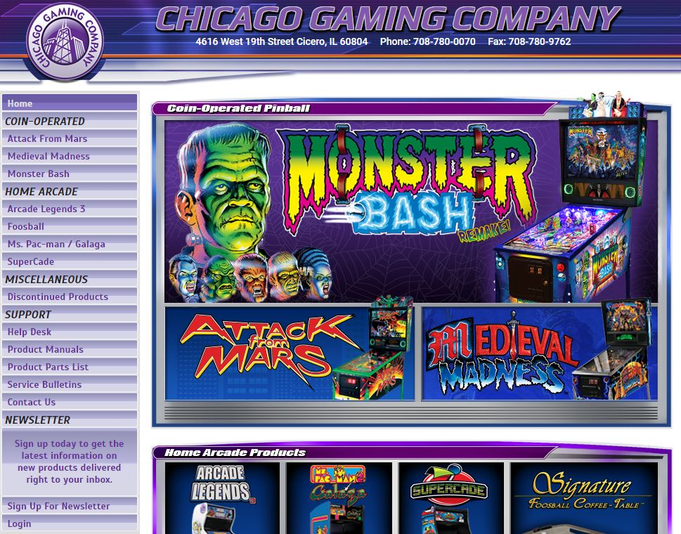 Site Web Chicago Gaming